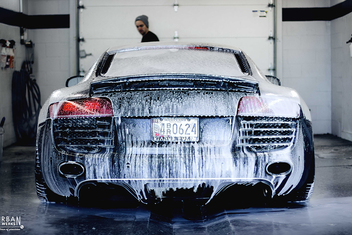 Audi R8 Receives Exterior Detailing Service Hand Wash and Wax
